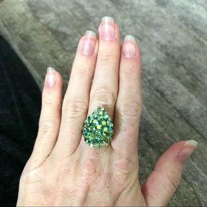 Jewelry - Teardrop Ring with Swarovski Crystals